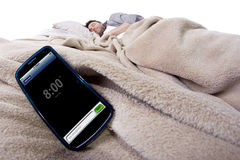Telefonu Komórkowego budzik fotografia stock