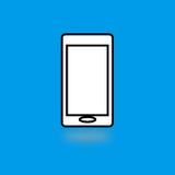 Telefonu komórkowego mieszkania ikona Zdjęcie Stock