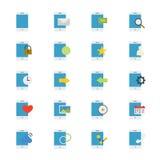 Telefonu Komórkowego przyrządu ikon Płaski kolor Obraz Royalty Free