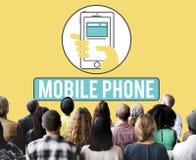 Telefonu Komórkowego telefon komórkowy Komórkowy Komunikuje pojęcie Fotografia Royalty Free