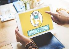 Telefonu Komórkowego telefon komórkowy Komórkowy Komunikuje pojęcie Obraz Stock