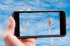 Telefonu komórkowego właściciel, horyzontalny zdjęcie royalty free