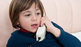 telefonu mówienie Obrazy Stock
