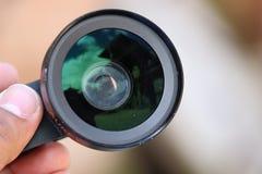 Telefonu obiektyw fotografia stock