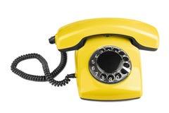 telefonu odosobniony stary kolor żółty Zdjęcie Royalty Free