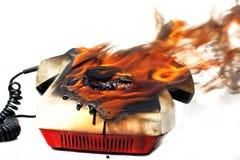 telefonu płonący rocznik Zdjęcia Stock