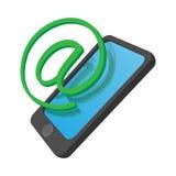 Telefonu połączenie z internetem kreskówki ikona Zdjęcie Royalty Free