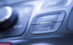 Telefonu ruchu drogowego samochodu szczegóły Obrazy Stock