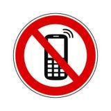 Telefonu zakazu znak - wektor royalty ilustracja