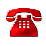 telefonu znak Obraz Stock