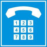 telefonu znak Obraz Royalty Free