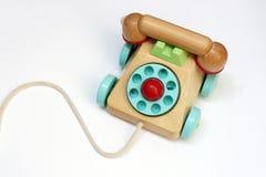 telefonuje zabawkarski drewnianego Zdjęcie Royalty Free
