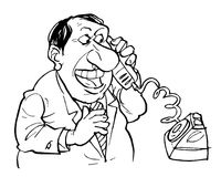 Telefonunterhaltung lizenzfreie abbildung