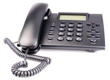 Telefonuppsättning som isoleras på vit Arkivbilder