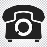 Telefonvektorikone Alte Weinlesetelefon-Symbolillustration Si Stockbilder