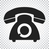 Telefonvektorikone Alte Weinlesetelefon-Symbolillustration Si Lizenzfreie Stockfotos