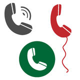 Telefonvektorikonen-Bildsatz Grafik lokalisiertes Bild lizenzfreie abbildung