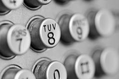 Telefonvorwahlknopfauflage Stockbilder