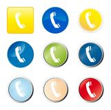 Telefonweb-Taste lizenzfreie abbildung