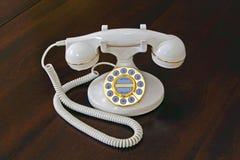 telefonwhite Royaltyfri Bild