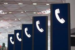 Telefonzeichen Stockfoto