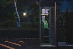 Telefonzelle in der Nacht lizenzfreies stockbild