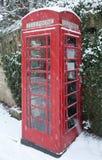 Telefonzelle im Schnee Lizenzfreie Stockfotografie
