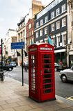 Telefonzelle in London Lizenzfreies Stockfoto