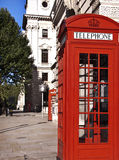 Telefonzelle in London Stockfotografie