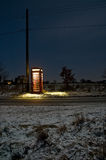 Telefonzelle nachts Lizenzfreies Stockfoto