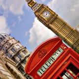 Telefonzelle und Big Ben Stockfotografie