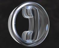 Telefoon in (3D) glas Royalty-vrije Stock Afbeeldingen