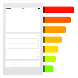 Telefoon barchart concept Stock Afbeeldingen