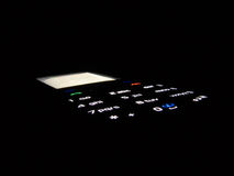Telefoon in dark Stock Foto