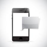 Telefoon en berichtbellenillustratie Royalty-vrije Stock Fotografie