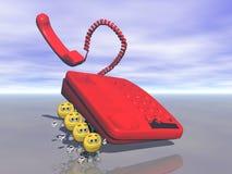 Telefoon en glimlach Stock Foto