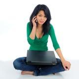 Telefoon en laptop Stock Afbeelding