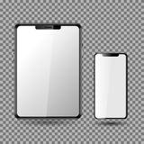 Telefoon en Tablet, het Lege Scherm EPS10 royalty-vrije stock afbeeldingen