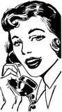 Telefoon Gal vector illustratie
