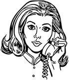 Telefoon Gal stock illustratie