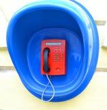 Telefoon op de muur Stock Foto's