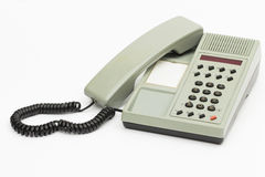 Telefoon op de witte achtergrond Stock Fotografie