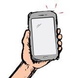 Telefoon op hand Royalty-vrije Stock Afbeeldingen