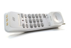 Telefoon op wit Stock Foto's