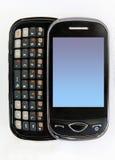 telefoon op witte achtergrond Stock Afbeelding