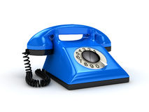 Telefoon over wit Stock Foto