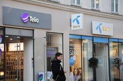 TELEFOON TWEE EN INTERNET-BEDRIJF Stock Afbeeldingen