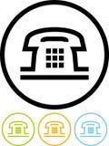 Telefoon - Vectorpictogram dat op wit wordt geïsoleerdj Stock Foto