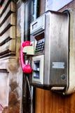 Telefooncel binnen Stock Foto