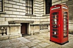 Telefooncel in Londen Stock Foto's